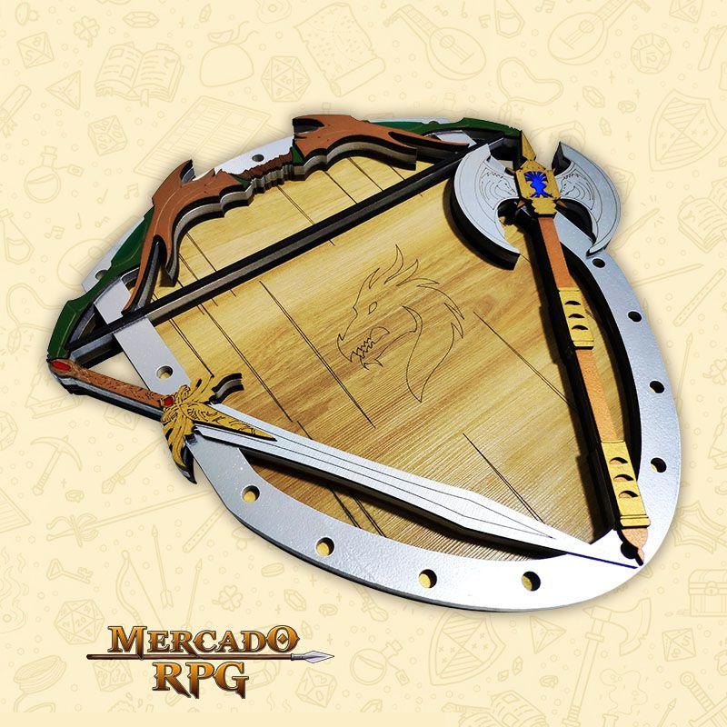 Bandeja de Dados Escudo com Armas - RPG