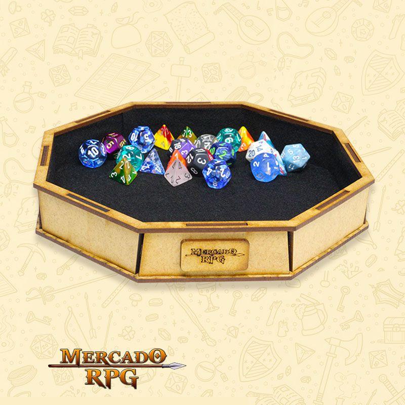 Bandeja de Dados Grande octogonal (D&D) - RPG  - Mercado RPG