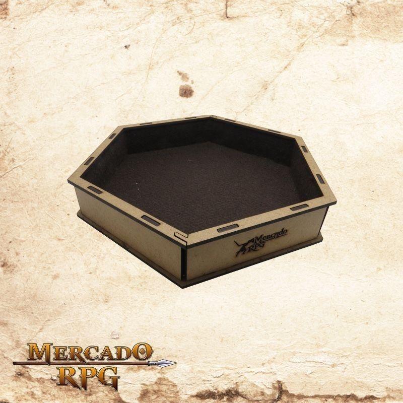 Bandeja de dados (Marrom)  - Mercado RPG