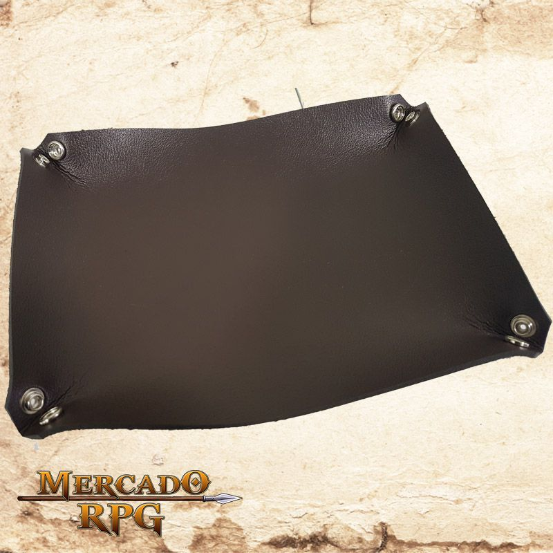 Bandeja de dados - Marrom  - Mercado RPG