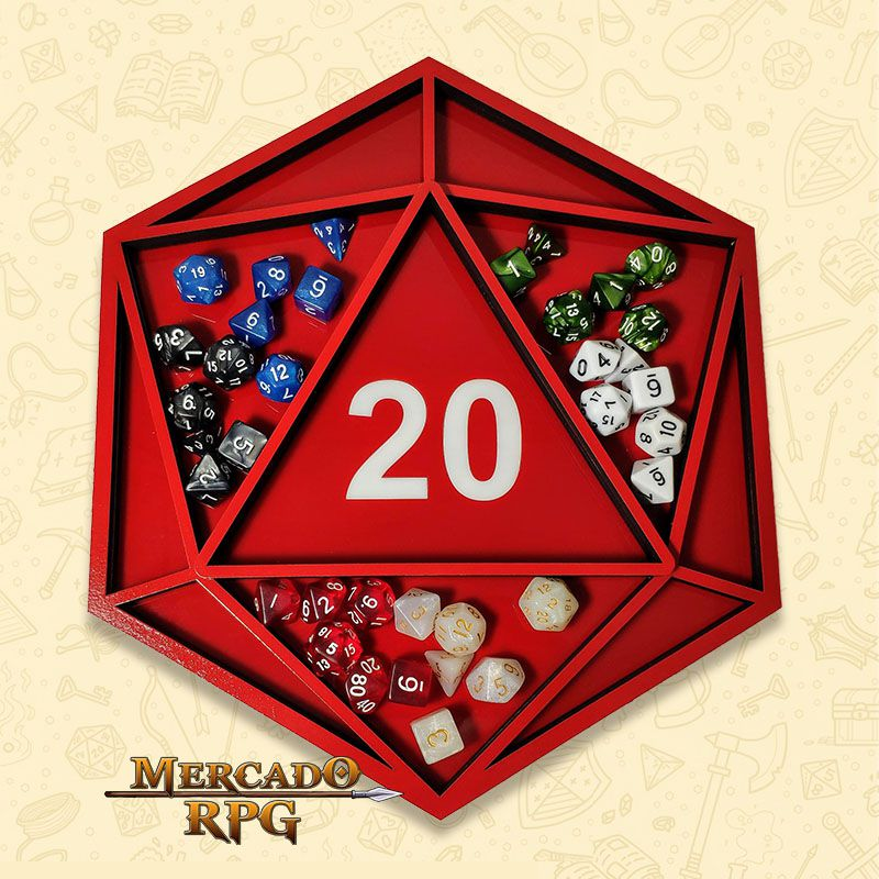 Bandeja de Dados Modelo D20 - RPG  - Mercado RPG