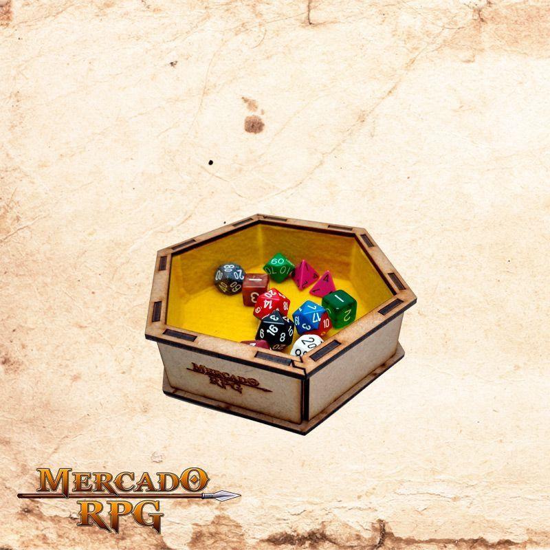 Bandeja de dados pequena (Amarela)  - Mercado RPG