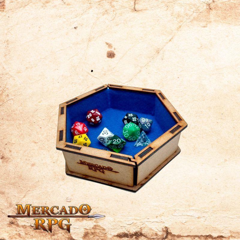 Bandeja de dados pequena (Azul)  - Mercado RPG