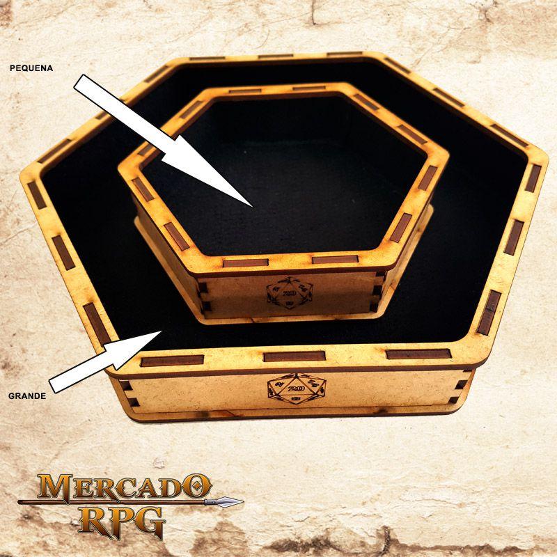 Bandeja de Dados Pequena (D20)   - Mercado RPG