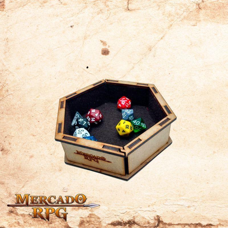Bandeja de dados pequena (Marrom)  - Mercado RPG