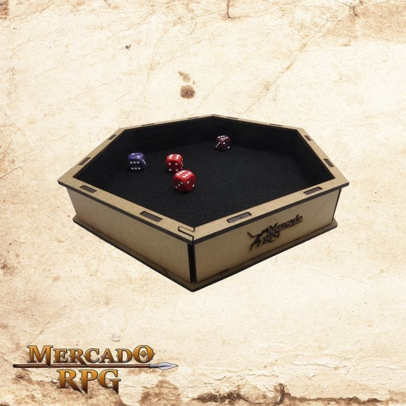 Bandeja de dados (Preto)  - Mercado RPG