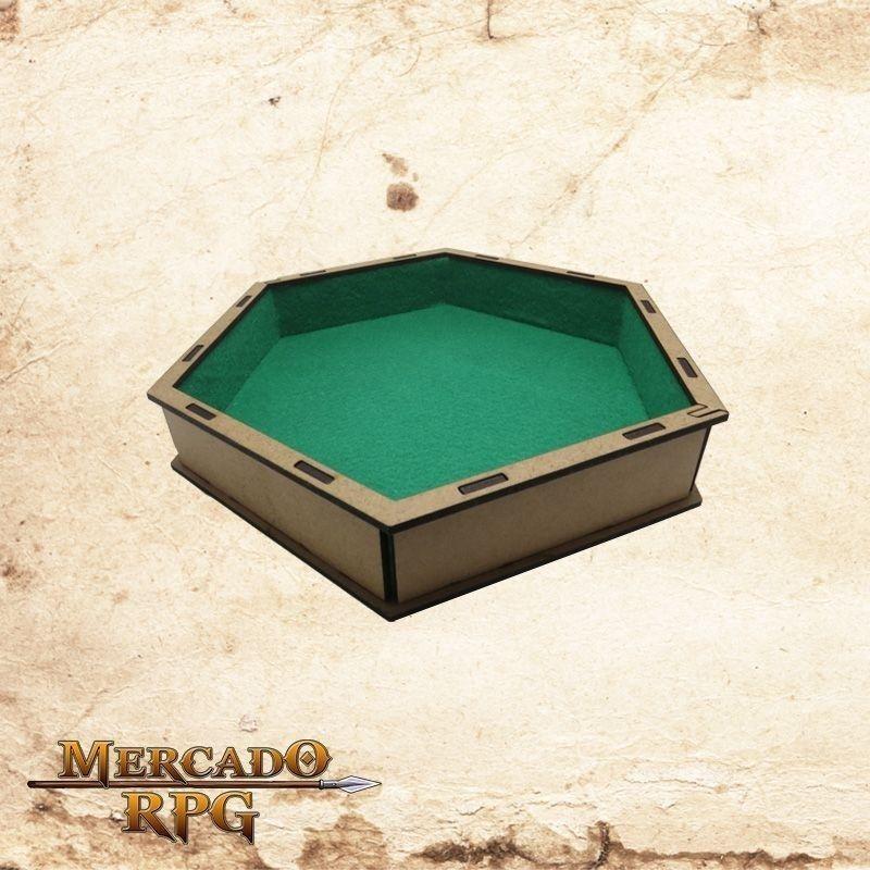 Bandeja de dados (Verde)  - Mercado RPG