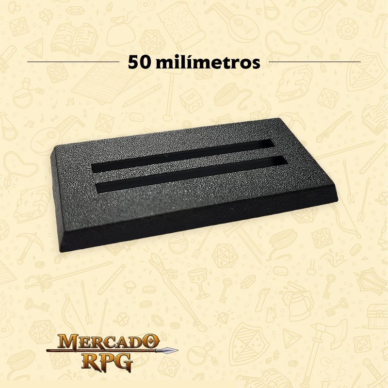 Base 25mm x 50mm - RPG  - Mercado RPG
