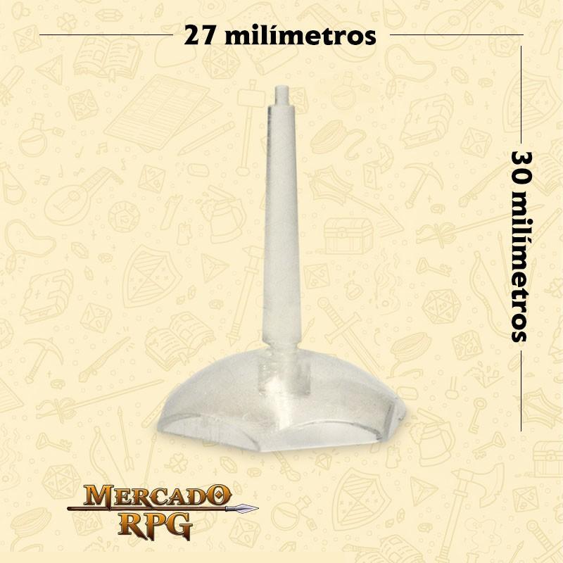 Base plástica Hexagonal para miniaturas voadoras 27mm - RPG
