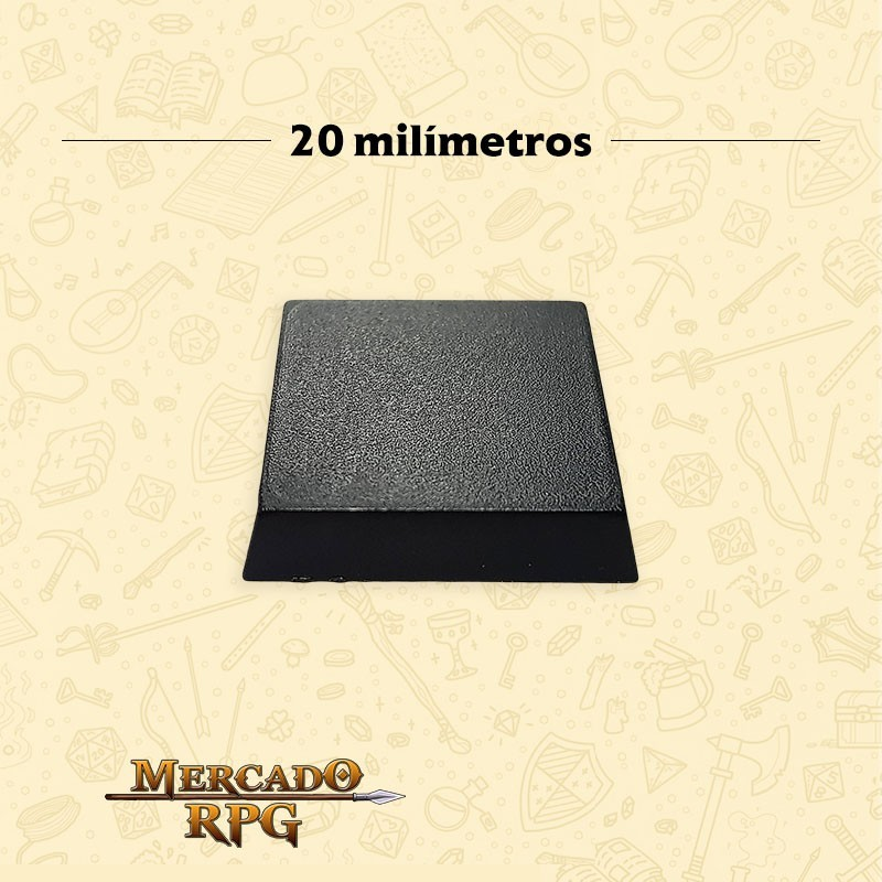 Base quadrada 20mm - RPG