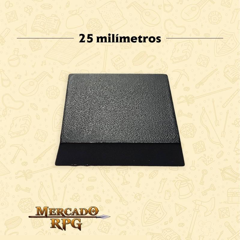 Base plástica quadrada para miniaturas e cenários em geral25mm B - RPG
