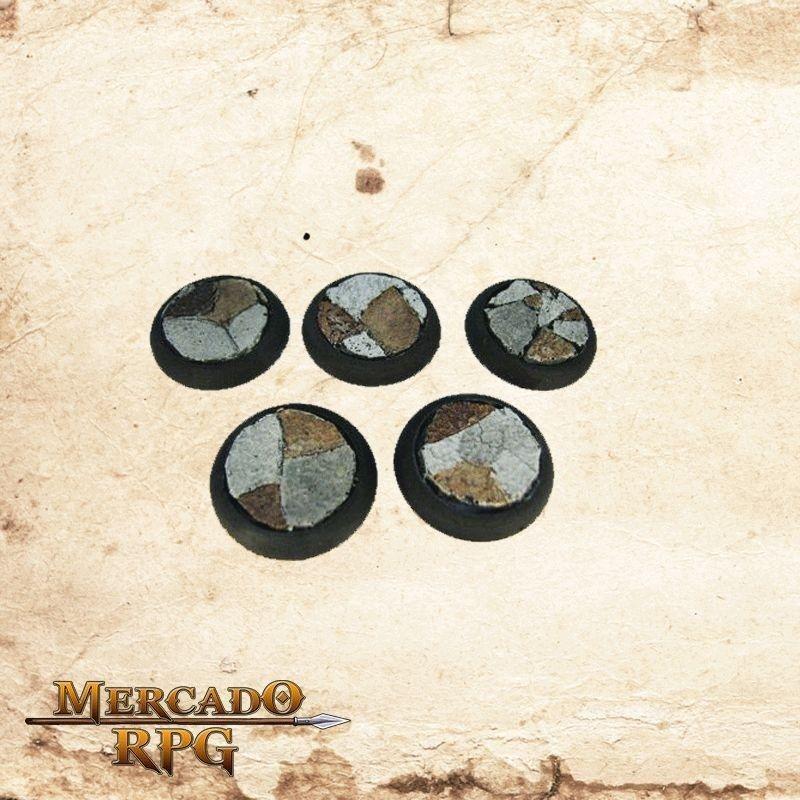Base redonda 30mm - Piso de rochas  - Mercado RPG