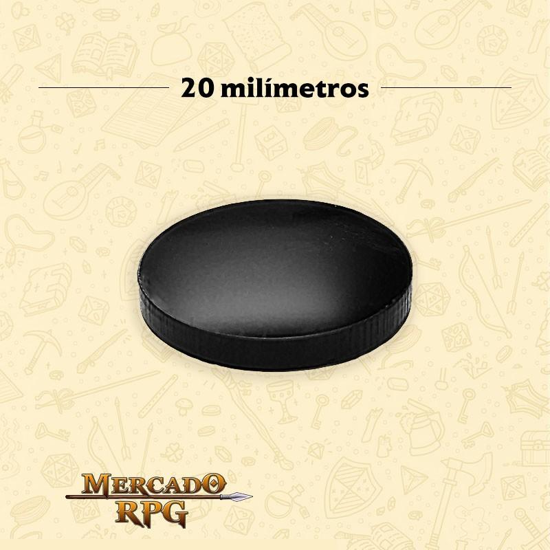 Base redonda em acrílico preta 20mm - RPG  - Mercado RPG