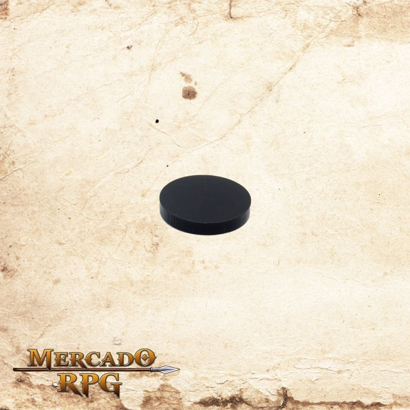 Base redonda em acrílico preta 25mm - RPG  - Mercado RPG