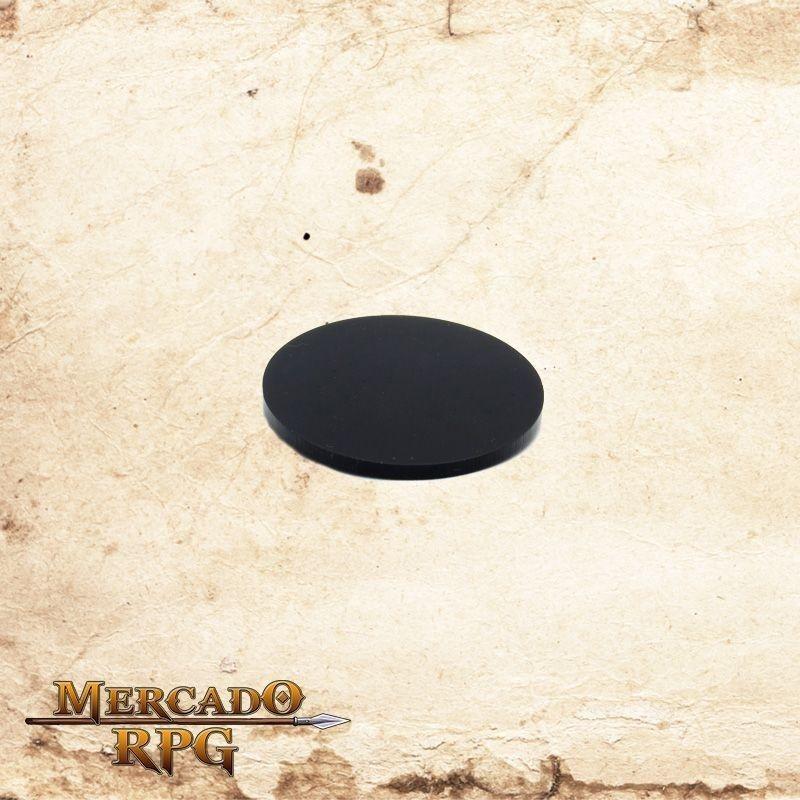 Base redonda em acrílico preta 50mm  - Mercado RPG
