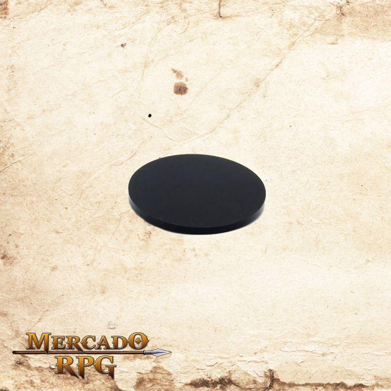 Base redonda em acrílico preta 75mm - RPG  - Mercado RPG