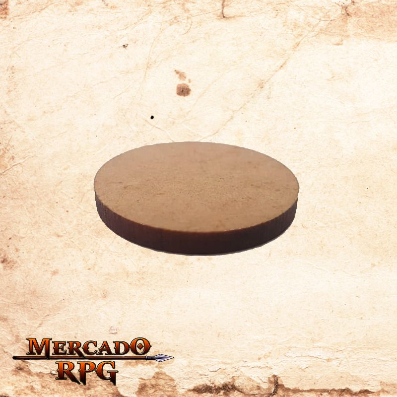 Base redonda em MDF 25x25mm - RPG