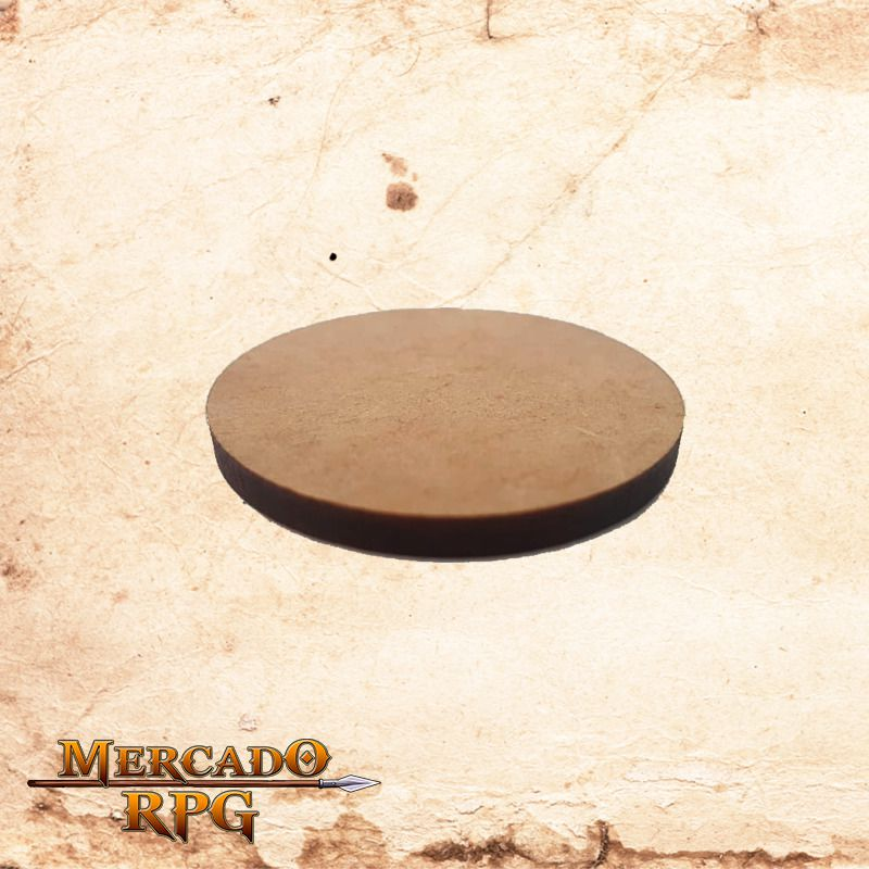 Base redonda em MDF 33x33mm - RPG  - Mercado RPG