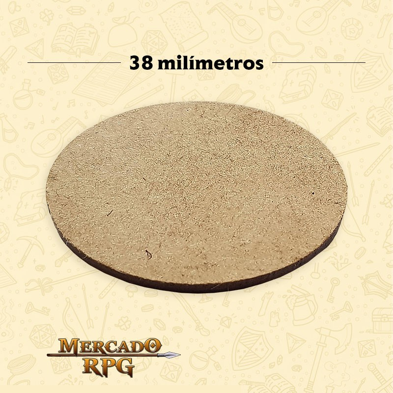 Base redonda em MDF 38x38mm - RPG