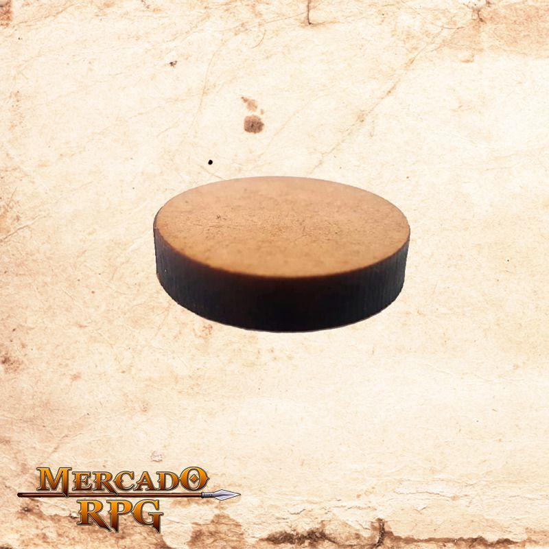 Base redonda Grossa em MDF 28x28mm - RPG  - Mercado RPG