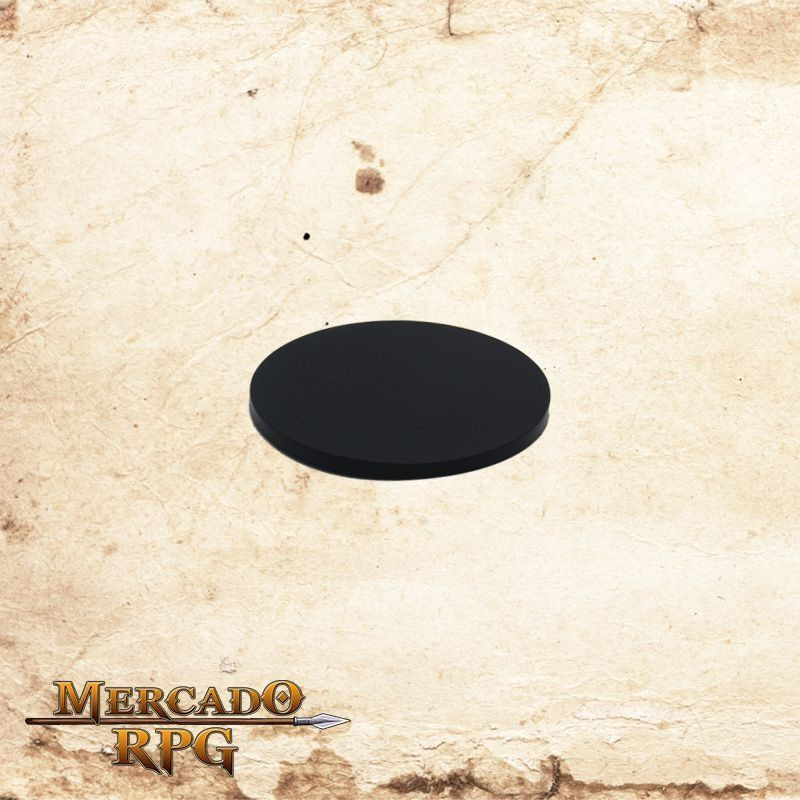 Base redonda preta 75mm