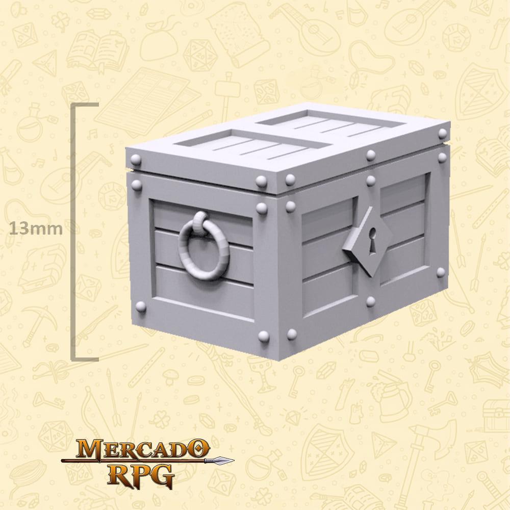 Baú do Tesouro A - Miniaturas de cenários para RPG e Boardgames