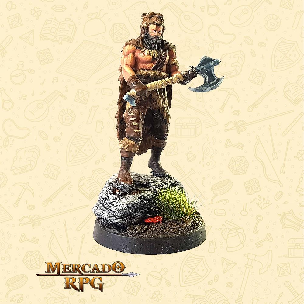 Beorunna O Urso Negro - Basilisco Miniaturas - Resina - Miniaturas para RPG