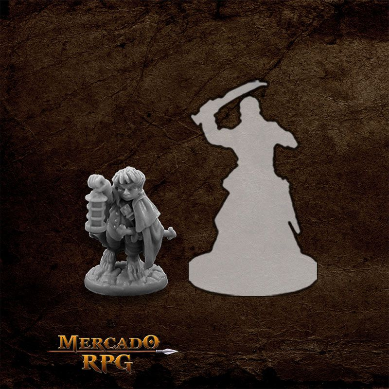 Bergamot, Halfling Scout - Miniatura RPG  - Mercado RPG