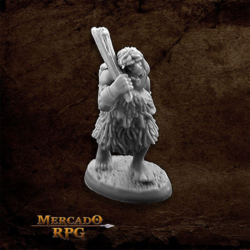 Black Bear Tribe Caveman A - Miniatura RPG