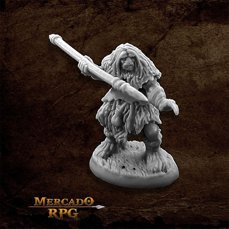 Black Bear Tribe Caveman B - Miniatura RPG