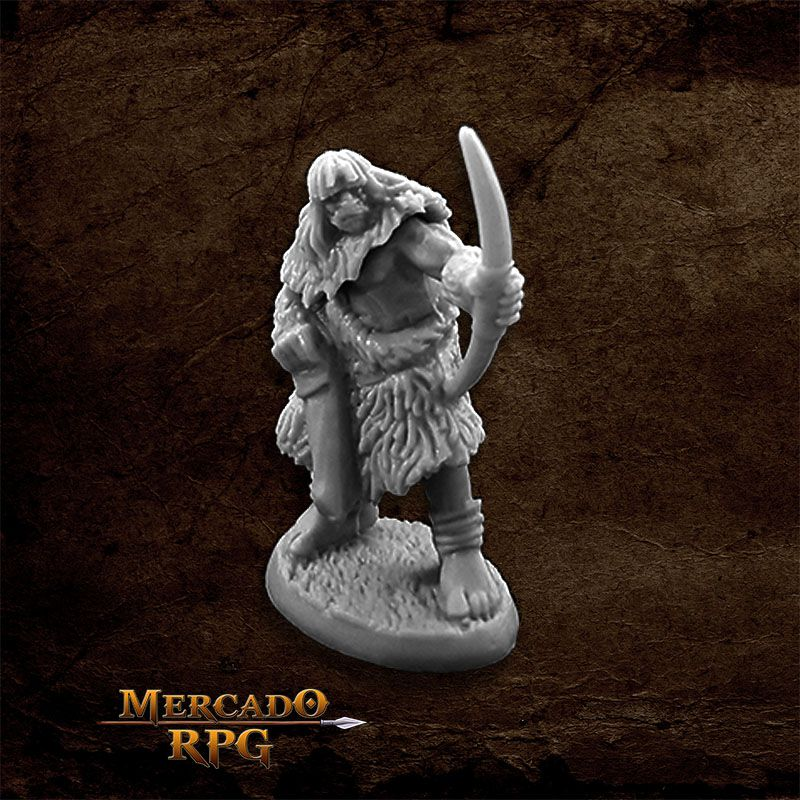 Black Bear Tribe Caveman C - Miniatura RPG