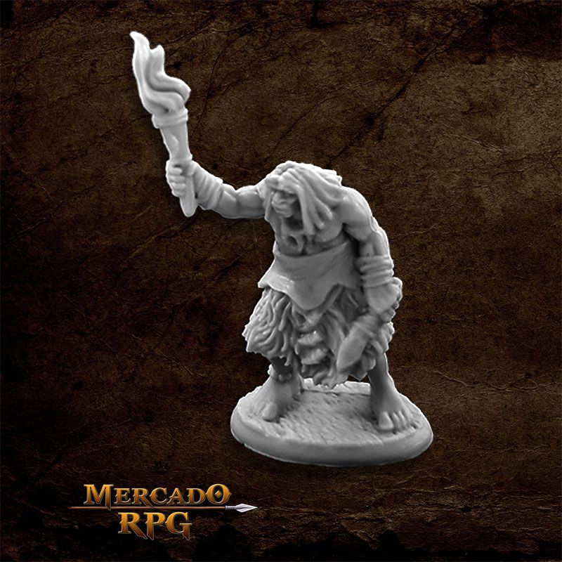 Black Bear Tribe Caveman D - Miniatura RPG