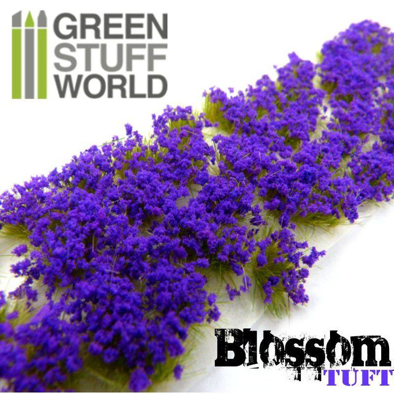 Blossom TUFTS - 6mm self-adhesive - PURPLE Flowers - RPG  - Mercado RPG