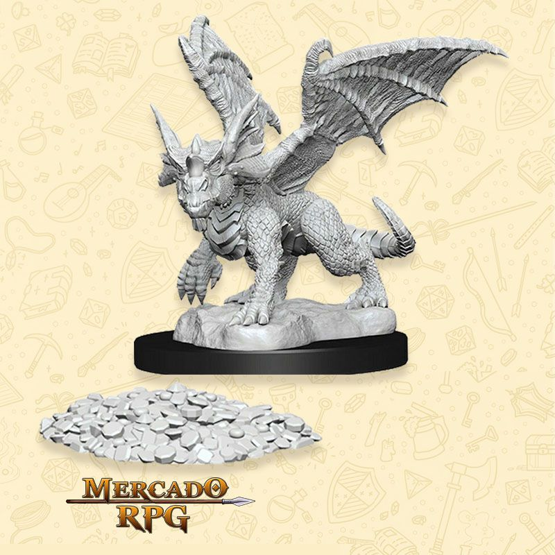 Blue Dragon Wyrmling - Miniatura RPG