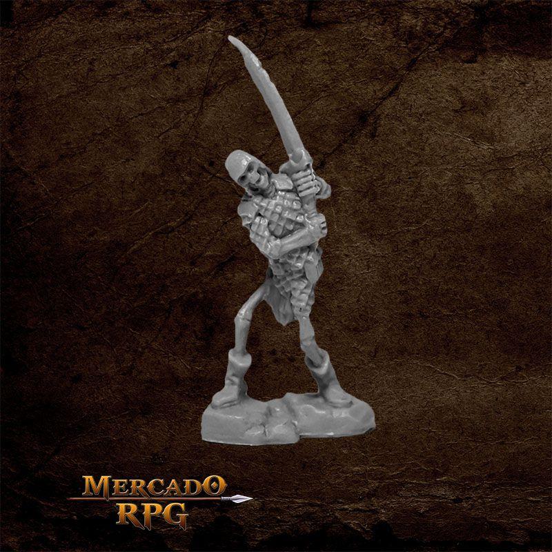 Bog Skeleton B - Miniatura RPG  - Mercado RPG