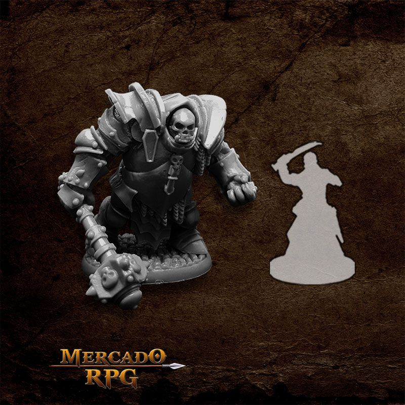 Bones Black Ogre Juggernaut - Miniatura RPG  - Mercado RPG