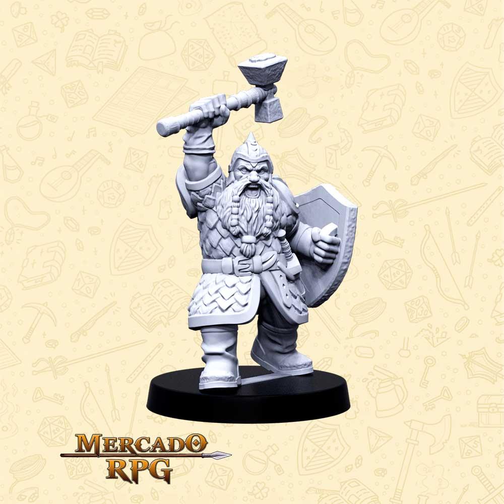 Bramndur Martelo de Pedra - Basilisco Miniaturas - Resina - Miniaturas para RPG