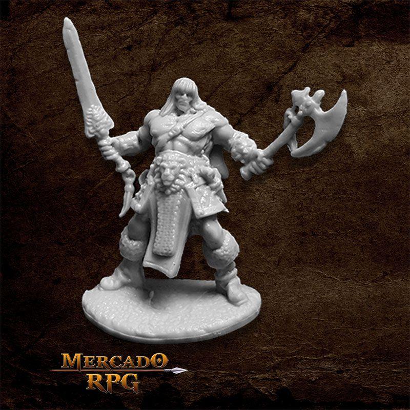 Brand Oathblood, Barbarian - Miniatura RPG  - Mercado RPG