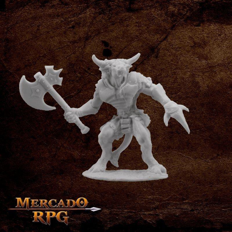 Bronzeheart, Minotaur hero - Miniatura RPG  - Mercado RPG
