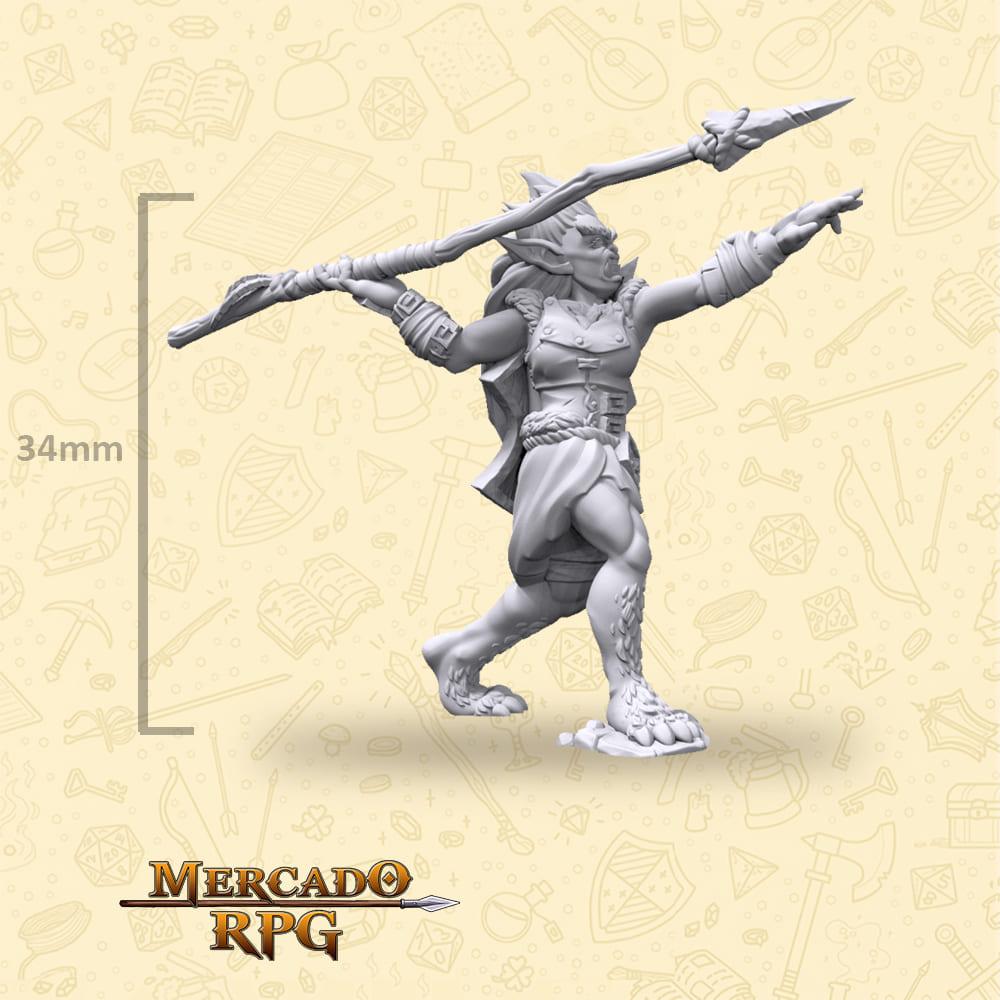 Bugbear Female Javelin - Miniatura - RPG