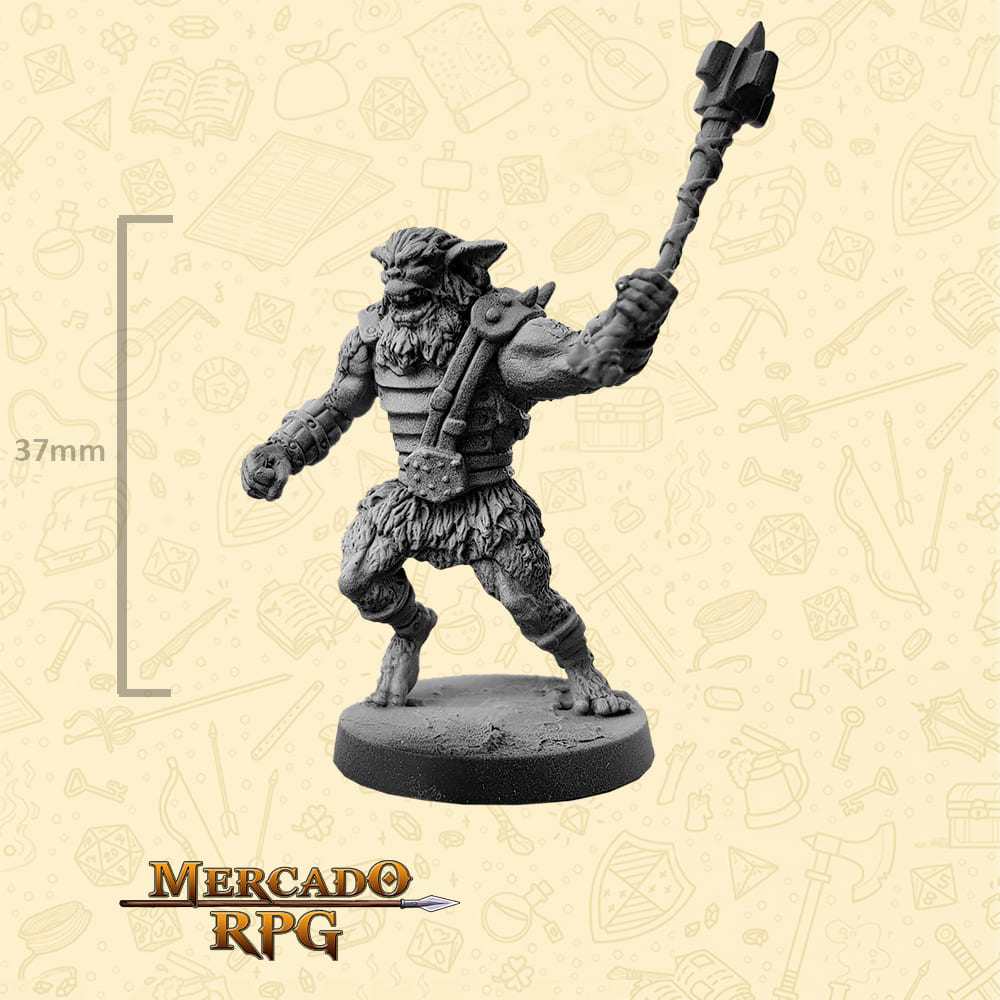 Bugbear - Massa - Basilisco Miniaturas - Metal Branco - Miniaturas para RPG