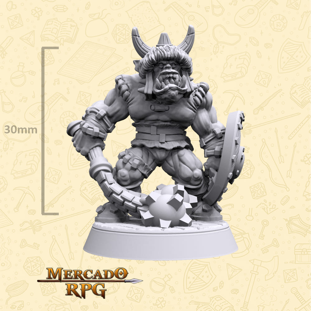 Burgark Orc Soldier - Miniatura - RPG