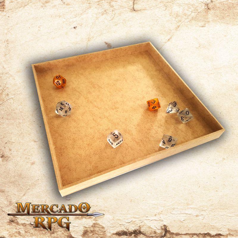 Caixa Grande para Grids (Bandeja de dados)  - Mercado RPG
