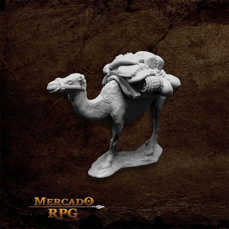 Camel w/ Pack - Miniatura RPG