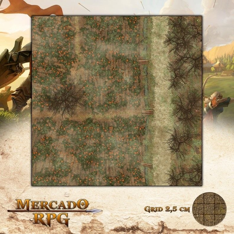 Campos de Abóboras Dia 50x50 - RPG Battle Grid D&D - Mercado RPG