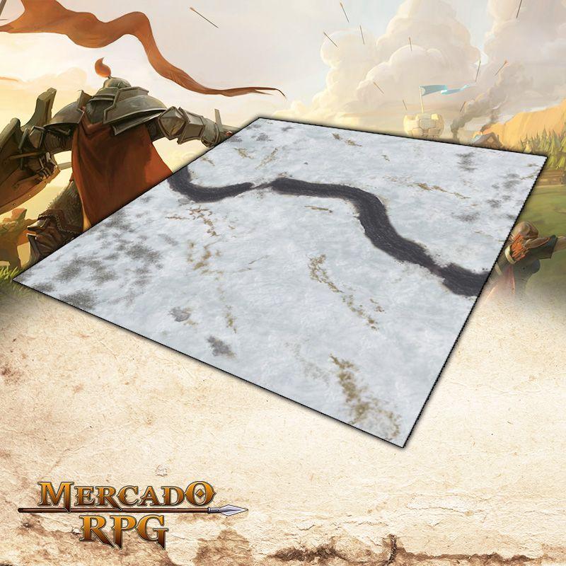 Campos Nevados 120x120 (Com Grid) - Battle Grid Wargame