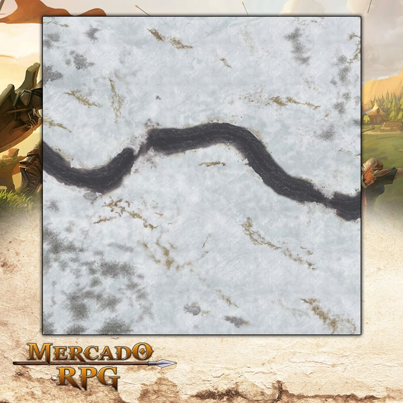 Campos Nevados 120x120 (Com Grid) - Battle Grid Wargame  - Mercado RPG