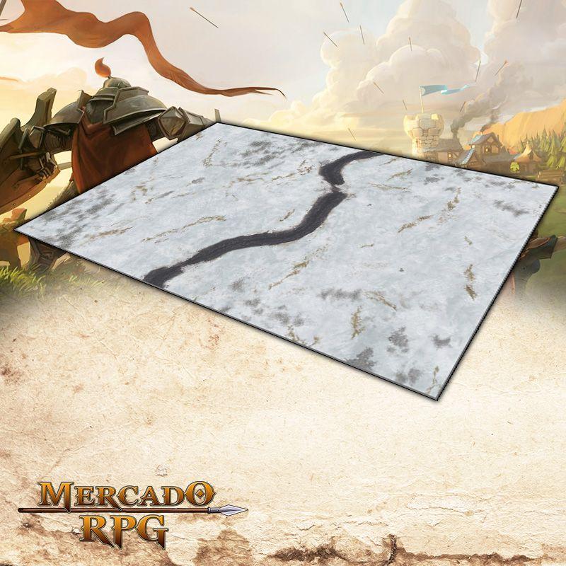 Campos Nevados 180x120 (Com Grid) Grid de Batalha - Battle Grid Wargame
