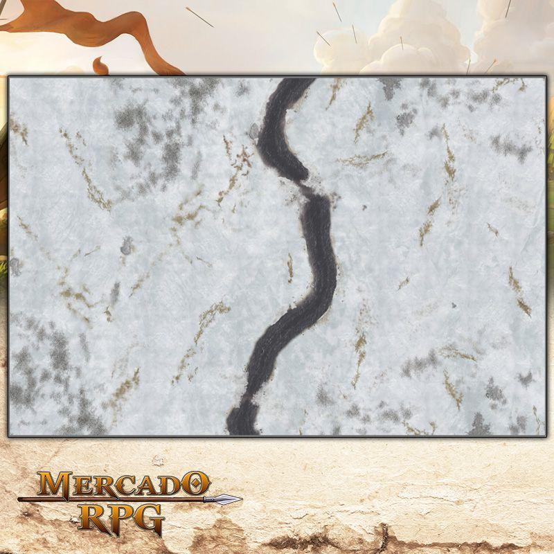 Campos Nevados 180x120 Grid de Batalha - Battle Grid Wargame  - Mercado RPG
