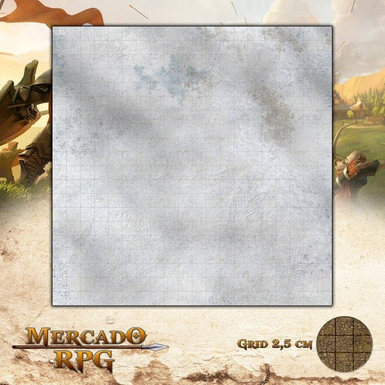 Campos Nevados 50x50 - RPG Battle Grid D&D